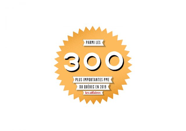 Ranking 125th Among the top 300 Québec SMEs