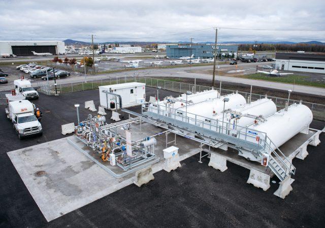 Parc de distribution de carburant d'aviation, Québec